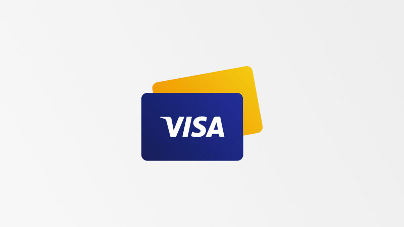 Illustration of visa cards.